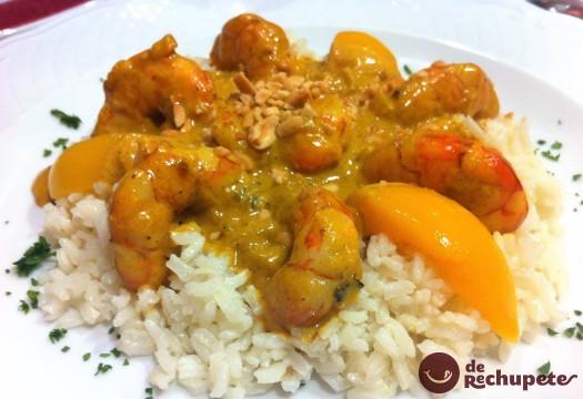 Langostinos al curry - Pescados y Mariscos Angelito